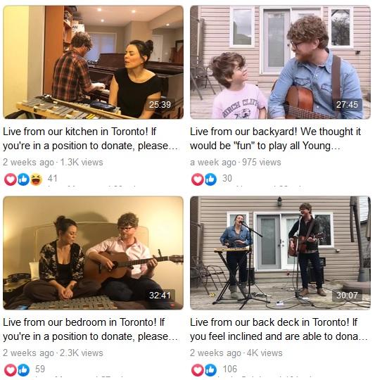Facebook Livestream concerts